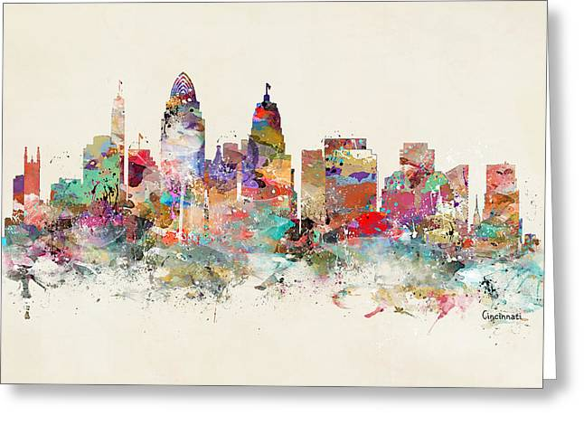 Cincinnati City Skyline Greeting Card