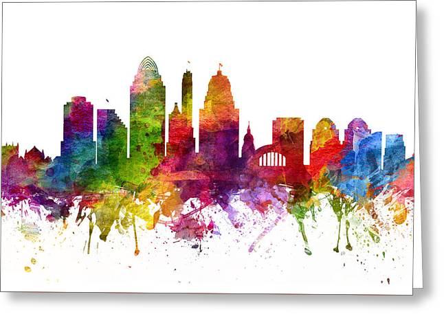Cincinnati Cityscape 06 Greeting Card