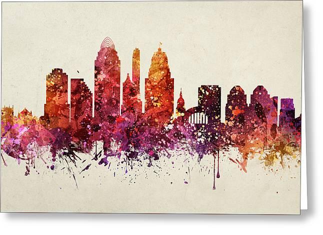 Cincinnati Cityscape 09 Greeting Card