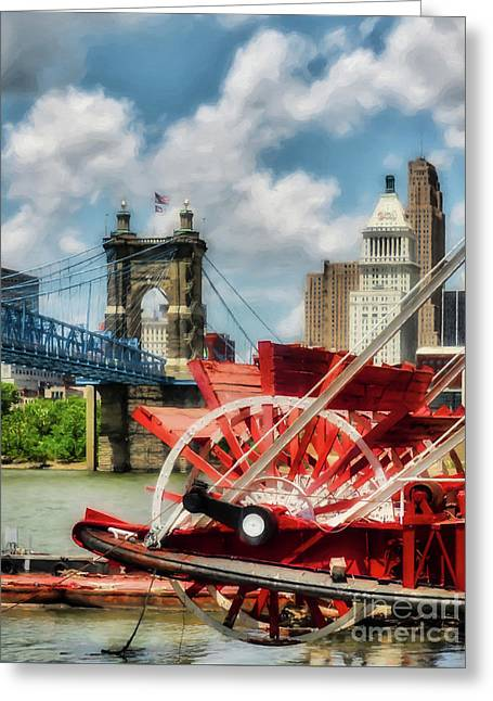 Cincinnati Landmarks 1 Greeting Card