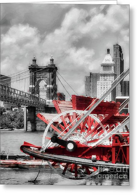 Cincinnati Landmarks 1 Selective Color Greeting Card