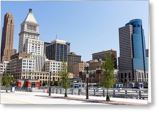 2012 Greeting Cards - Cincinnati Ohio Downtown City Buildings Greeting Card by Paul Velgos