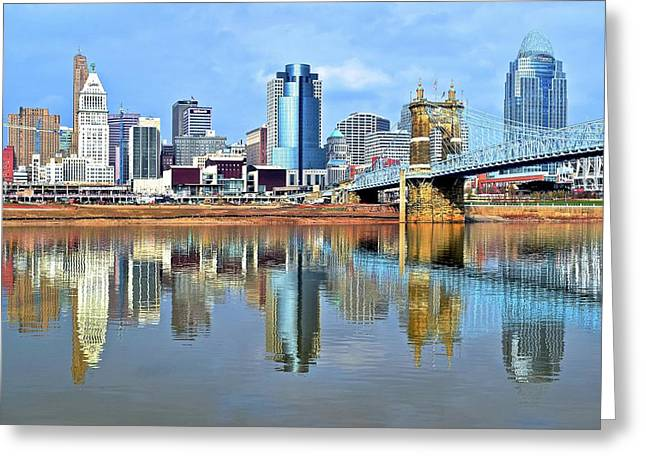 Cincinnati Ohio Times Two Greeting Card