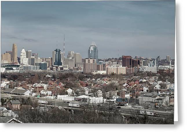 Cincinnati Panorama  Greeting Card by Scott Meyer