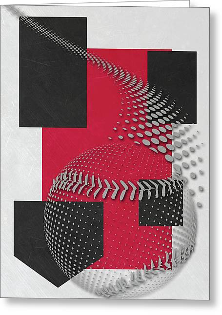 Cincinnati Reds Art Greeting Card by Joe Hamilton