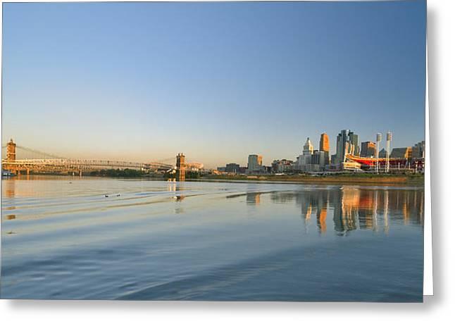 Cincinnati Riverfront Panorama Greeting Card