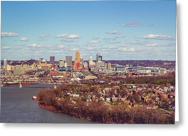 Cincinnati Skyline 2 Greeting Card by Scott Meyer