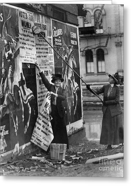 Cincinnati: Suffragettes Greeting Card by Granger