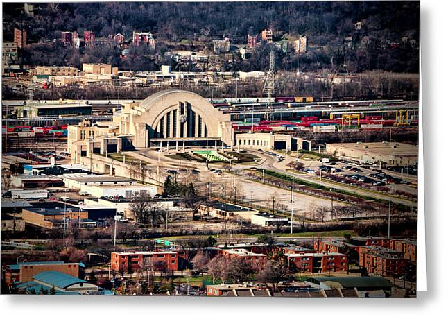 Cincinnati Union Terminal Greeting Card by Phyllis Taylor