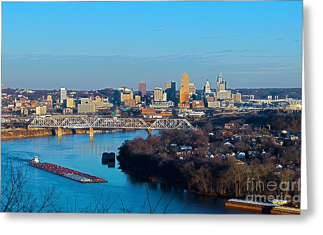 Cincinnati View From The West Greeting Card