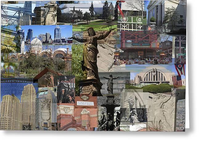 Greeting Card featuring the photograph Cincinnati's Favorite Landmarks by Robert Glover