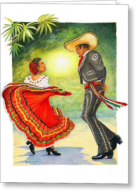 Cinco De Mayo Dancers Greeting Card