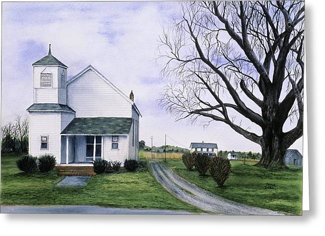 Eastern Shore Greeting Cards - Cinder Lane Greeting Card by Tom Dorsz