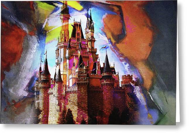 Cinderella Castle Greeting Card by Gull G