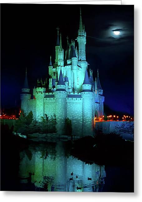 Cinderella Castle Reflection Greeting Card by Mark Andrew Thomas