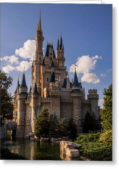 Cinderella Castle Side View Greeting Card by Zina Stromberg