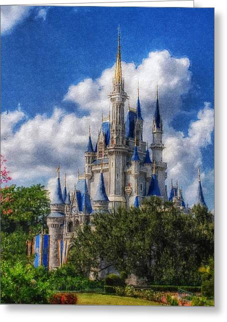 Cinderella Castle Summer Day Greeting Card