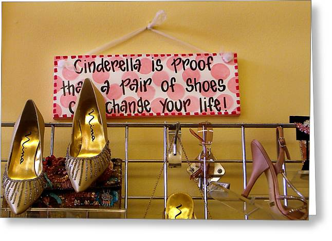 Cinderella Is Proof Greeting Card by Heather S Huston
