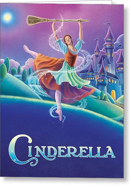 Cinderella Poster Greeting Card