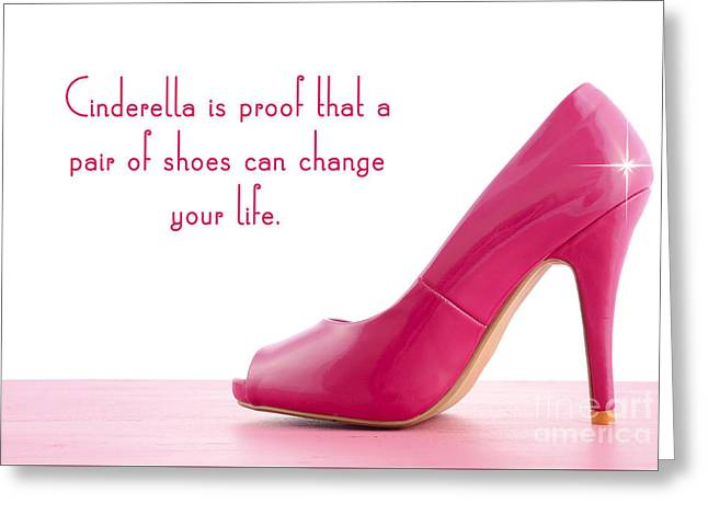Cinderella Shoes Greeting Card by Milleflore Images