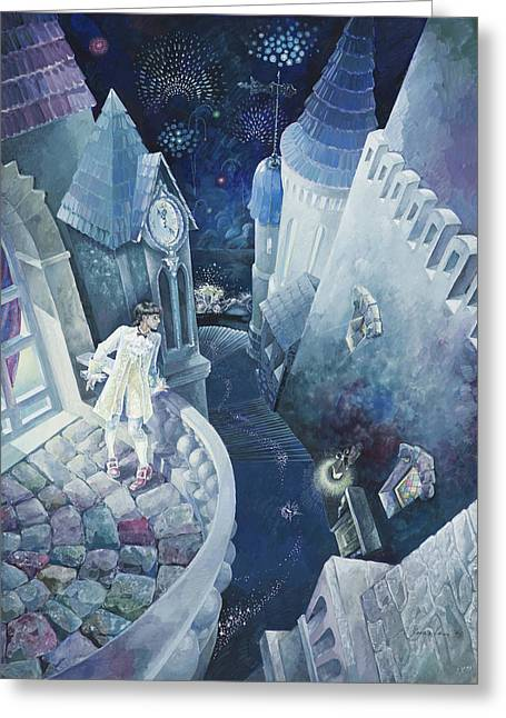 Cinderella. Midnight. Greeting Card