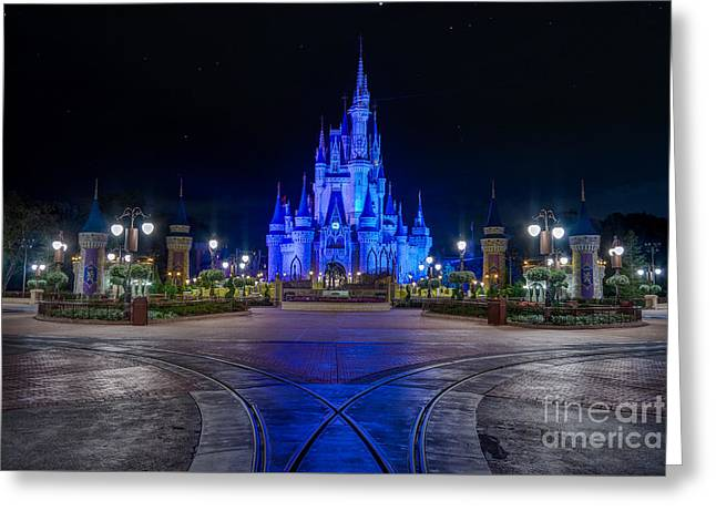 Cinderellas Castle Glow Greeting Card