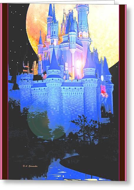 Cinderellas Castle Magic Kingdom Walt Disney World Orlando Flori Greeting Card
