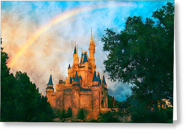 Cinderella's Castle Art Greeting Card