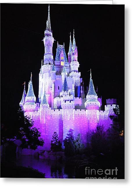 Cinderella's Holiday Castle Greeting Card by John Black