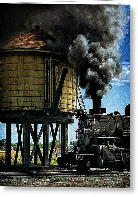 Cinders And Water Greeting Card by Ken Smith