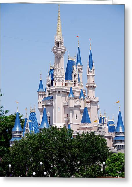 Cindrella's Castle Greeting Card by Thea Wolff