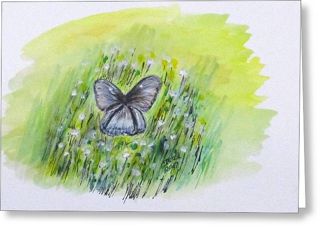 Greeting Card featuring the painting Cindy's Butterfly by Clyde J Kell