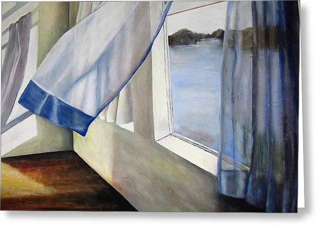 Cindy's Window Greeting Card by Eileen Kasprick