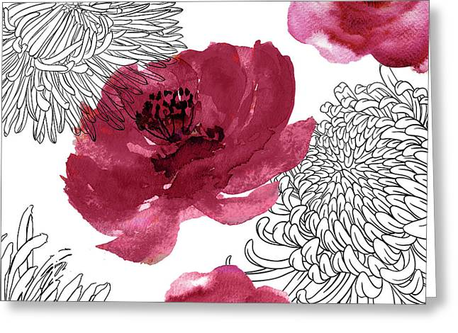 Cinnabar Greeting Card by Mindy Sommers