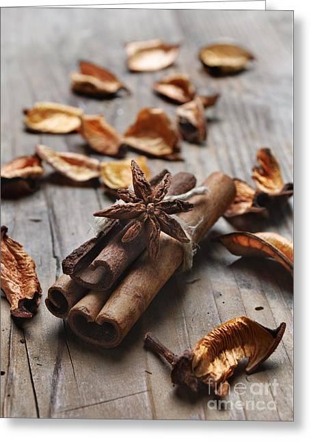 Cinnamon Greeting Card by Jelena Jovanovic