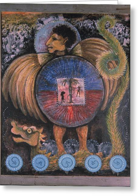 Vodou Greeting Cards - Cinq Jours Malheureux Greeting Card by Barbara Nesin