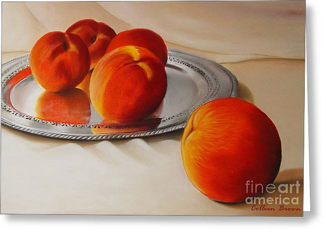 Cinque Pesche Greeting Card by Colleen Brown