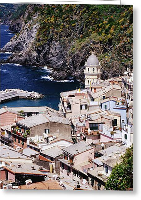 Cinque Terra Town Of Vernazza Greeting Card by Jeremy Woodhouse