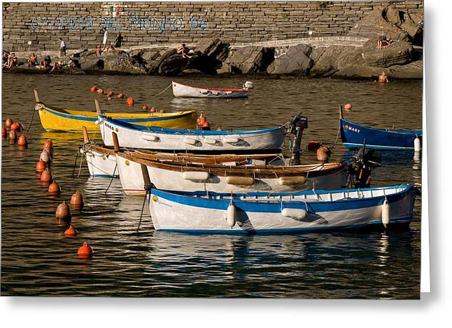 Cinque Terre  Greeting Card by Carl Jackson