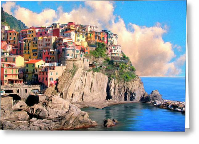 Cinque Terre Greeting Card by Dominic Piperata