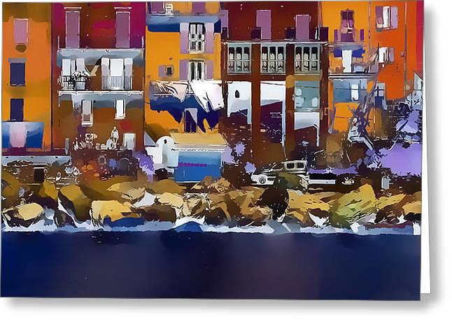 Cinque Terre  I Greeting Card by Gareth Davies