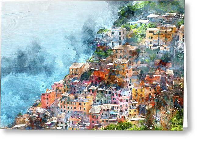 Cinque Terre In Italy Greeting Card by Brandon Bourdages