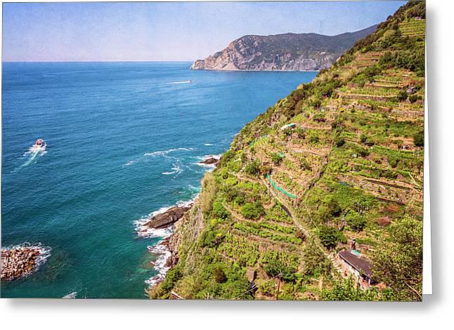 Cinque Terre Italy Coastline Greeting Card