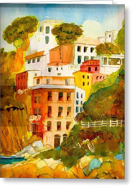 Cinque Terre Greeting Card by KC Winters