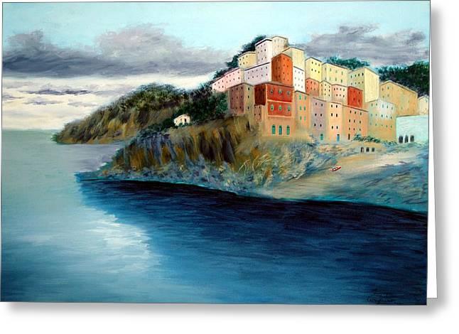 Larry Cirigliano Greeting Cards - Cinque Terre Greeting Card by Larry Cirigliano