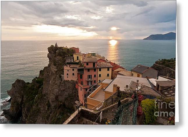 Cinque Terre Tranquility Greeting Card by Mike Reid
