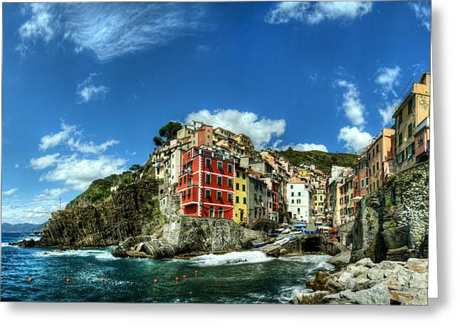 Cinque Terre - View Of Riomaggiore Greeting Card