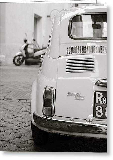 Cinquecento Black And White Greeting Card by Stefano Senise