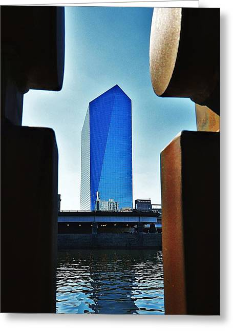 Cira Behind Bars Greeting Card by Andrew Dinh