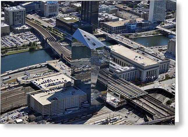 Brandywine Realty Greeting Cards - Cira Centre and Amtrak Garage 30th and Arch Streets Philadelphia PA 19104  Greeting Card by Duncan Pearson